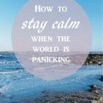 Staying calm in Corona times
